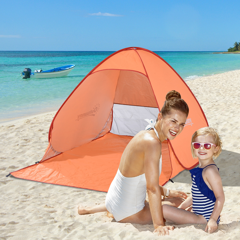 Image of EUR24,99 Outsunny Tienda de Campa?a Pop-Up Instantánea y Portátil con Ventanas tipo Refugio para Playa Picnic y Camping con Protección Solar UV Black Friday A20-036OG 8435428727901