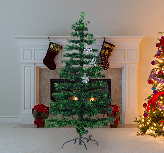 Image of EUR45,99 HomCom Arbol de Navidad - Verde Φ60x150cm + Luces LED Arbol Artificial Black Friday 02-0793 8435428709082