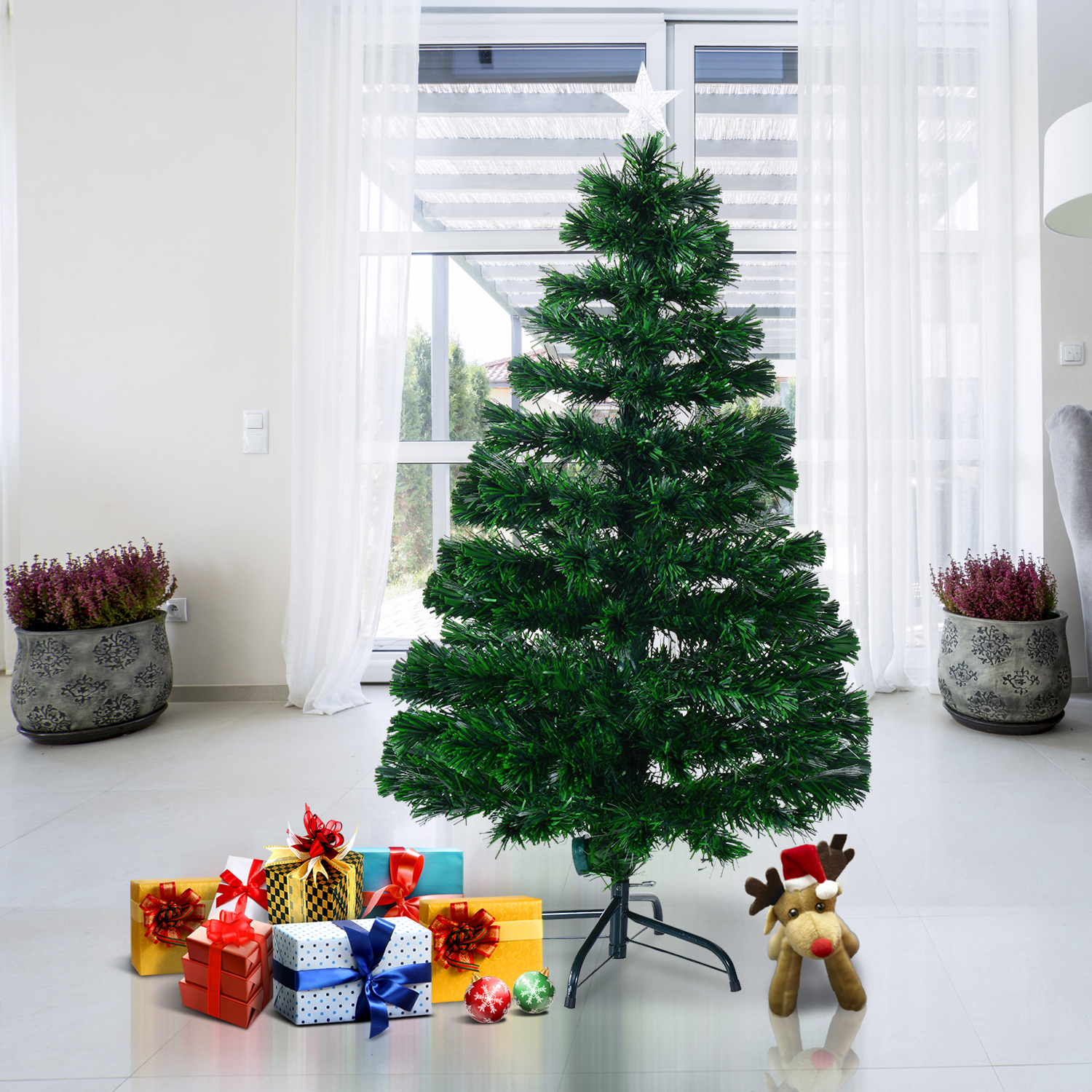 Image of EUR28,99 HomCom Arbol de Navidad + Luces LED Arbol Artificial - Verde Φ60x120cm Black Friday 02-0349 8435428708474