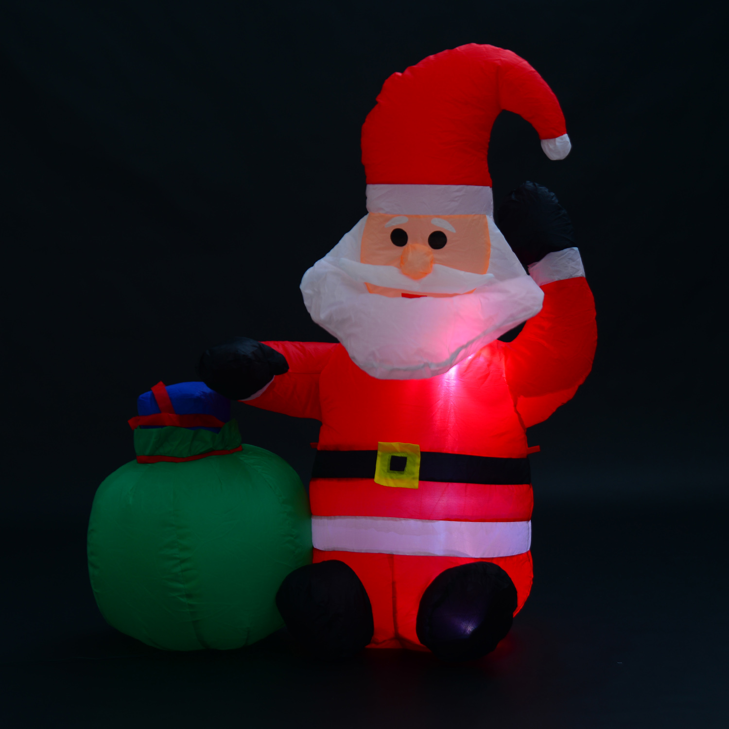 Image of EUR23,99 Papa Noel Inflable 70x45x120cm Luces LED + Bolsa Regalo Decoracion Navidad Santa Black Friday 844-006 8435428712907