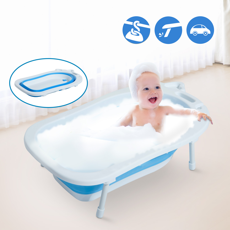Image of EUR29,99 HomCom Ba?era para Bebé y Ni?o para Ba?o Infantil - Plegable Portátil y Segura Black Friday 400-005BU 8435428720513