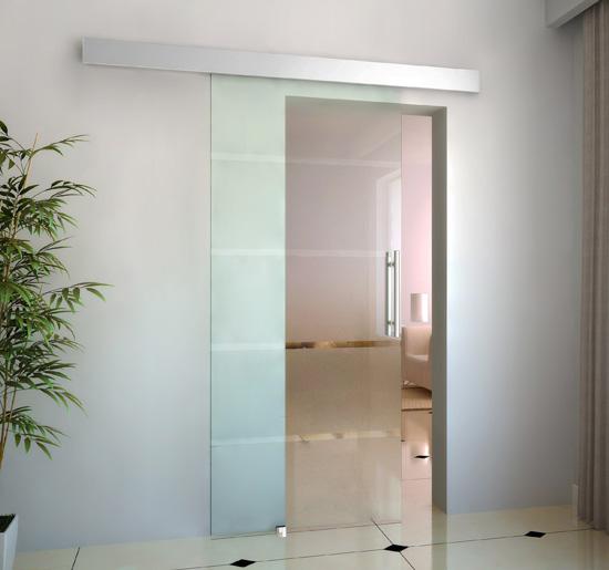 Image of EUR165,99 Puertas Correderas de Cristal con 4 Rayas Instalación sin Obras - 205x102,5 cm Black Friday E7-0016 8435428713874