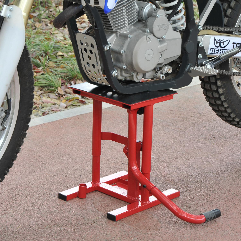 Image of EUR39,99 HomCom Caballete tipo Soporte Elevador de Motocross para Reparación y Estacionamiento Black Friday C30-005 8435428720605