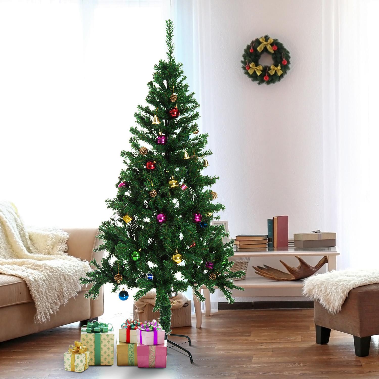 Image of EUR27,99 [Ofertas de Navidad]HomCom Arbol de Navidad - Verde Arbol Artificial Φ80x180cm con Adornos Black Friday 02-0355 8435428702250