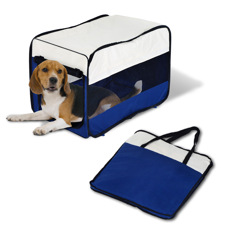 Image of EUR13,99 PawHut Bolsa de Viaje para Mascotas-Azul Crema Oxford Nylon 63x45x45cm Black Friday D00-062 8435428715427