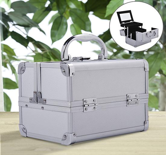 Image of EUR17,99 HOMCOM Maletin Profesional - Aluminio Blanco con Espejo Black Friday 81-0007 8435428716318