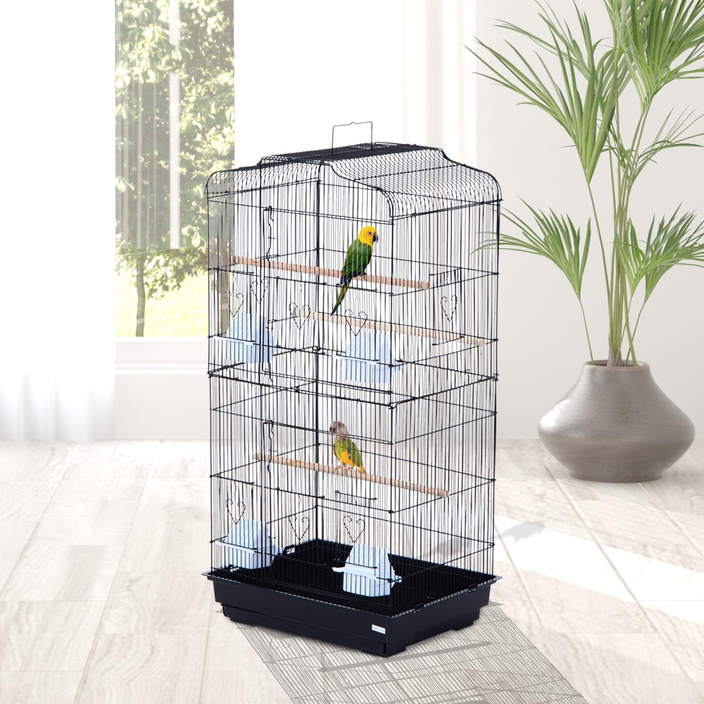 Image of EUR42,99 PawHut Jaula para Pájaros Pajarera para Pájaro Acero Black Friday D10-018BK 8435428735050