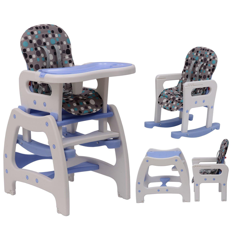 Image of EUR79,99 Trona multifuncional para Bebés 3 en 1 convertible en Mecedora y Mesa - Color Azul Black Friday 420-001BU 8435428709327