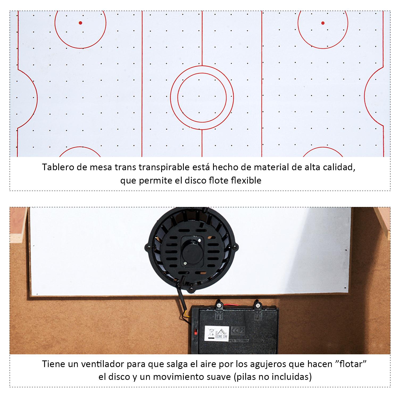 Air Hockey Juego de Mesa de Madera con Ventilador 2