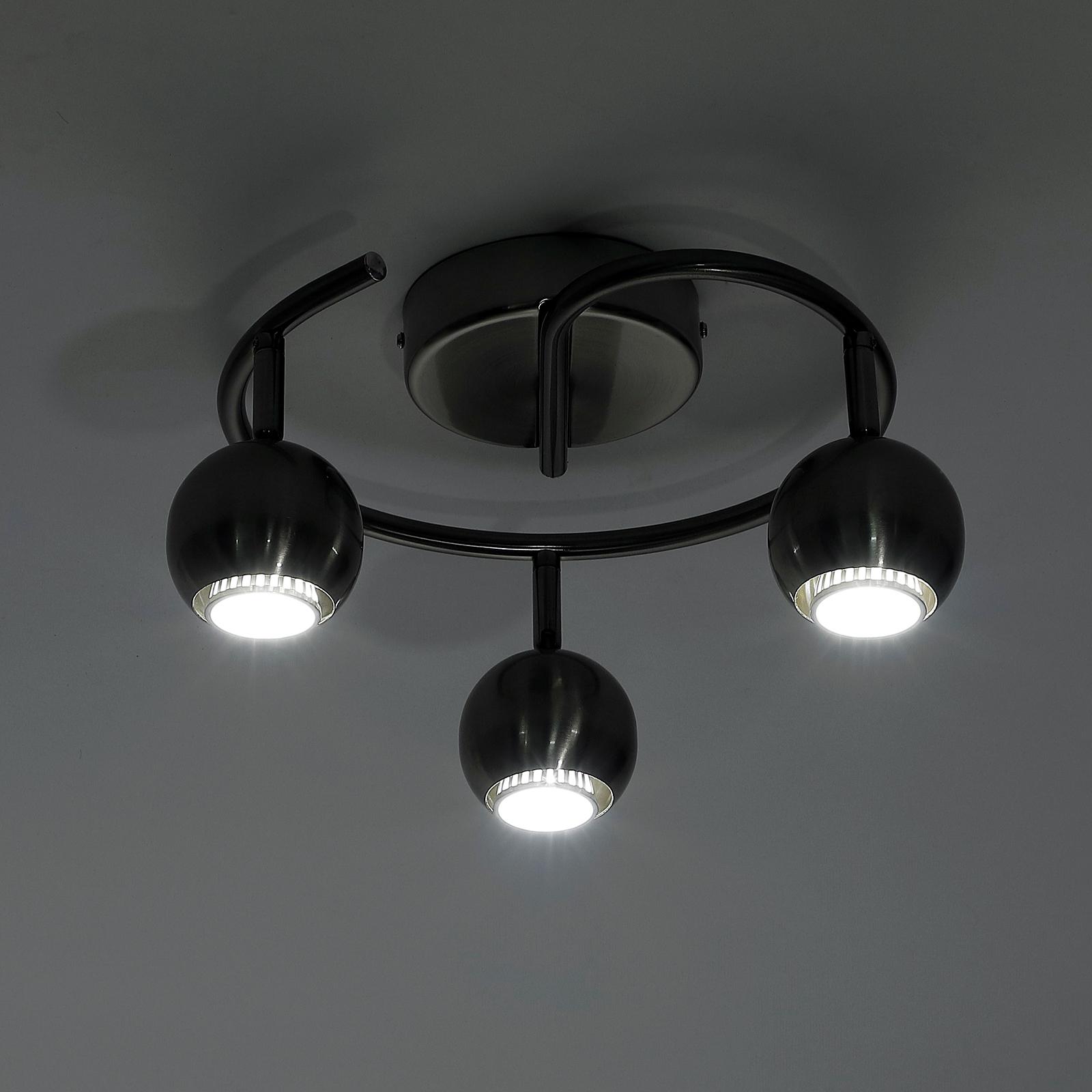 Image of EUR22,99 HomCom Lámpara de Techo Focos Giratorios Luces LED Moderno 3 Bombillas GU10 40W Black Friday B31-106 8435428738037