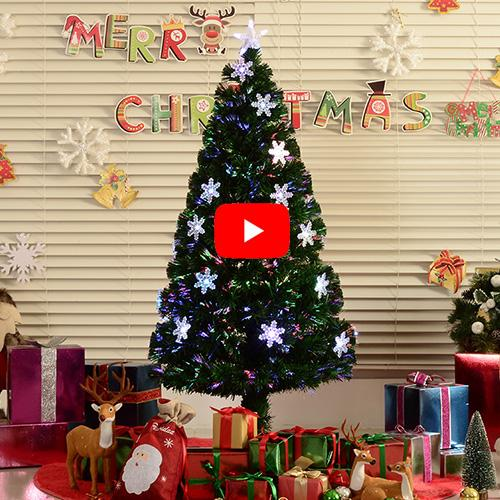 HomCom Arbol de Navidad Verde Φ60x150cm + Luces LED Arbol Artificial