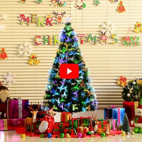 HomCom Arbol de Navidad Verde Φ74x150cm + Luces LED Arbol Artificial